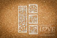 """Дизайнерски комплект от бирен картон """"Фонови елементи с момина сълза"""", Laserowe Love"""