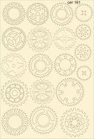 """Елементи от бирен картон Зъбни колела"""", сет 161"""