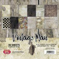 """Дизайнерско блокче хартии """"Винтидж мъж"""", 15см, Craft&You Design"""