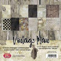 """Дизайнерски комплект хартии """"Винтидж мъж"""", 30см, Craft&You Design"""