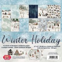 """Дизайнерски комплект хартии """"Зимна ваканция"""", 30см, Craft&You Design"""