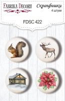 """Скрапбукинг копчета """"Winter wonders #422"""", 4бр., Fabrika Decoru"""