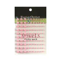 Перли, розови, 100бр., Eyelet Outlet