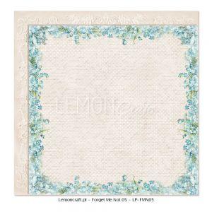 "Дизайнерски лист хартия ""Не ме забравяй""-5 - 30.5см, Lemoncraft"
