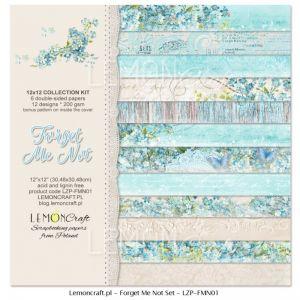 """Дизайнерски комплект хартии """"Не ме забравяй"""", 30см, Lemoncraft"""