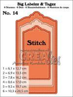 Комплект щанци за изрязване на големи тагове с шев - вариант 14