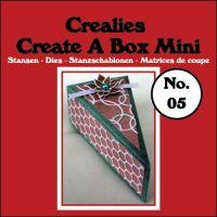Комплект щанци за изрязване на мини-кутийка - тип парче от торта, вариант 5