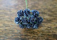 Рози, военно синьо, 15мм