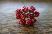 Разтворени пъпки на роза, бордо, 10бр.