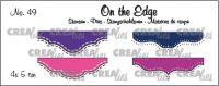 Щанци за изрязване на мини-бордюри - вариант 49, Crealies