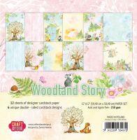 """Дизайнерски комплект хартии """"Woodland Story"""", 30см, Craft&You Design"""