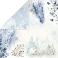 """Дизайнерски лист хартия """"Arctic Winter"""" -1 - 30.5см, Craft&You Design"""