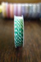 Ролка двуцветен шнур, зелено и бяло, 4.6м