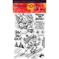 """Прозрачни печати """"Екшън Дядо Коледа"""", Power Poppy"""