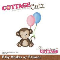 """Щанци за изрязване """"Бебе-маймунка"""", Cottage Cutz"""