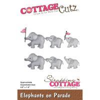 """Щанци за изрязване """"Слонове на парад"""", Cottage Cutz"""